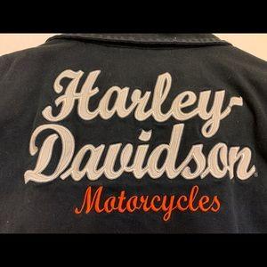 Harley Davidson Zipper VEST Top Black Denim 1W